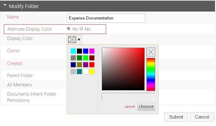 Documents – Color Code Folder Names
